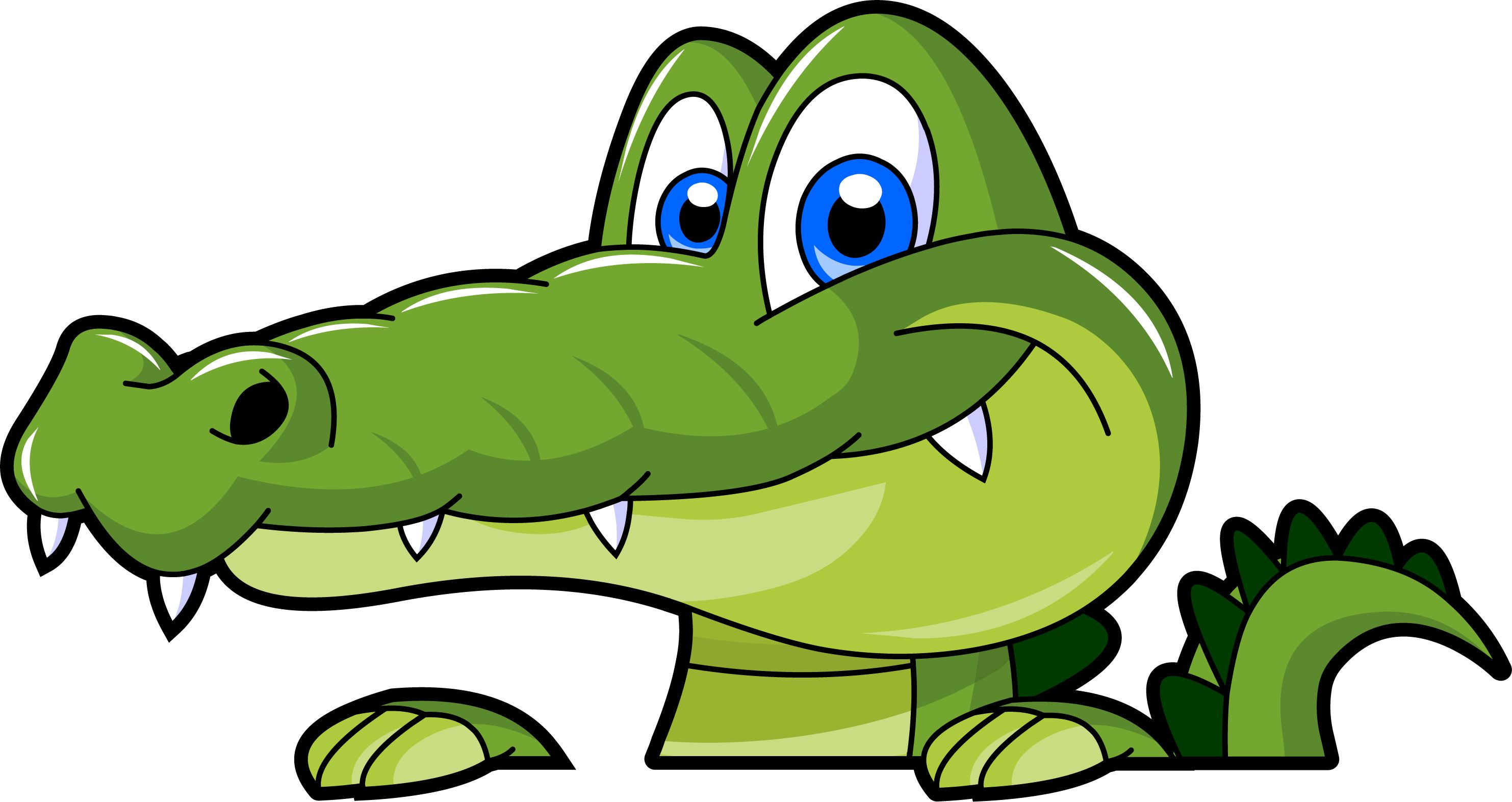 Alligator Clip Art. Swamp alligator cartoon .