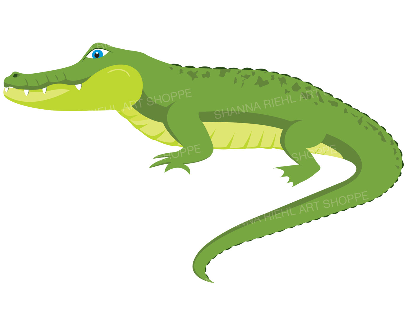 Alligator Clipart | Crocodile Digital Do-Alligator Clipart | Crocodile Digital Download Art | Commercial Use Swamp Printable Art | Jungle Safari Clip Art | Safari Animals Gator Art-15