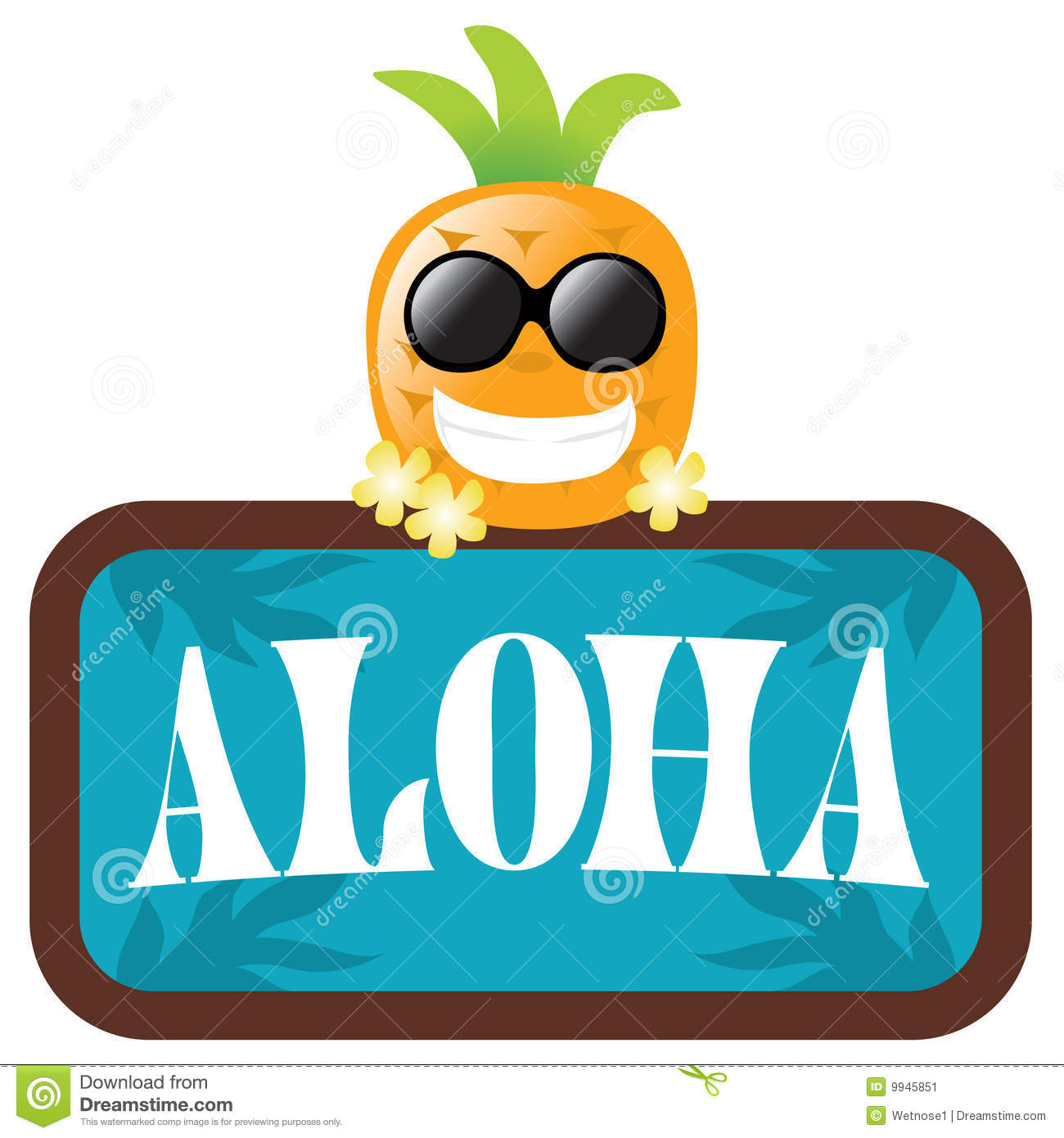 Aloha Sign Stock Image .