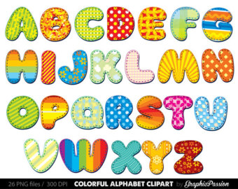 Alphabet clipart color .-Alphabet clipart color .-11