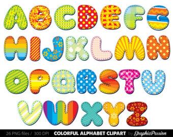Alphabet clipart color .
