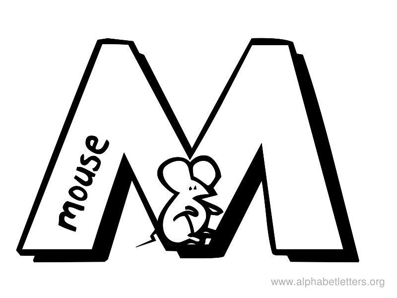Alphabet Letter Clipart M-Alphabet Letter Clipart M-19