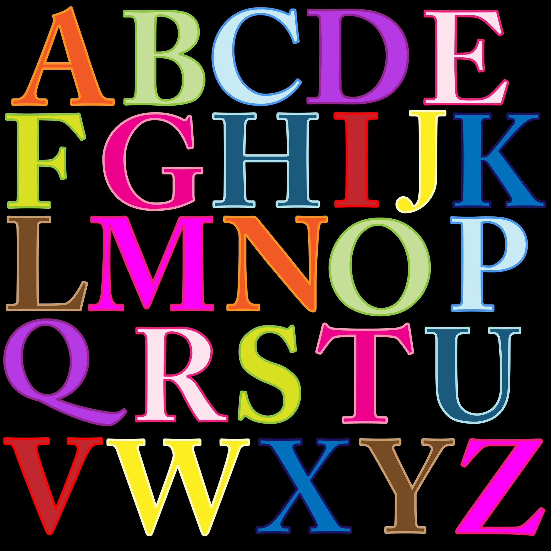 Alphabet Letters Clip Art  Clipartlook