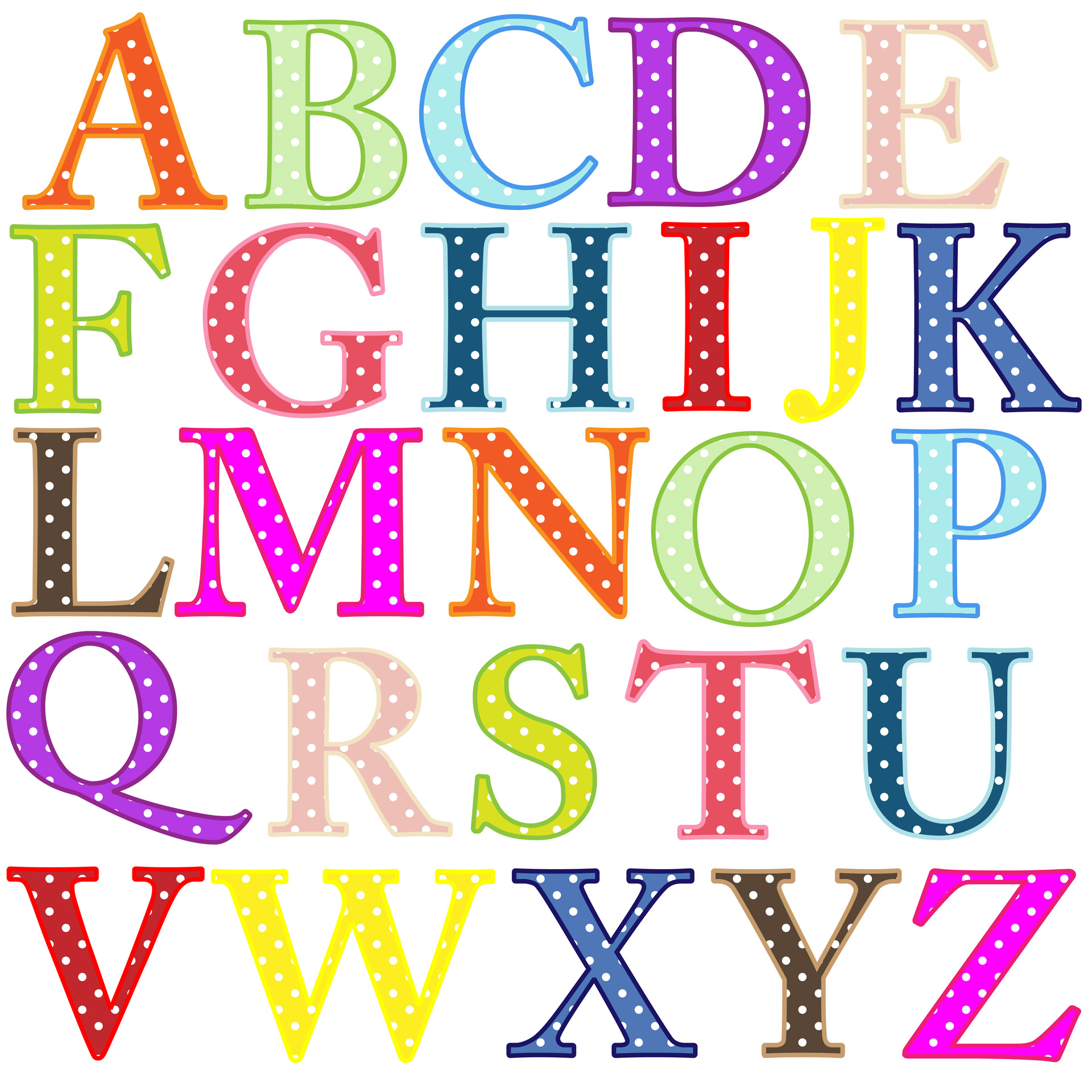 Alphabet Letters Clip-art-Alphabet Letters Clip-art-7