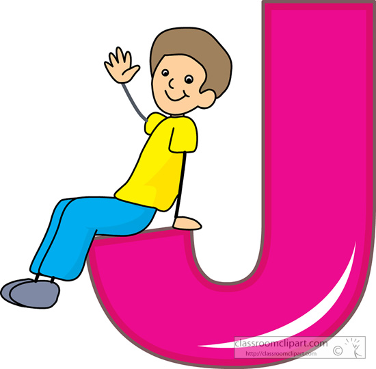 Alphabets Children Alphabet Letter J Cla-Alphabets Children Alphabet Letter J Classroom Clipart-0