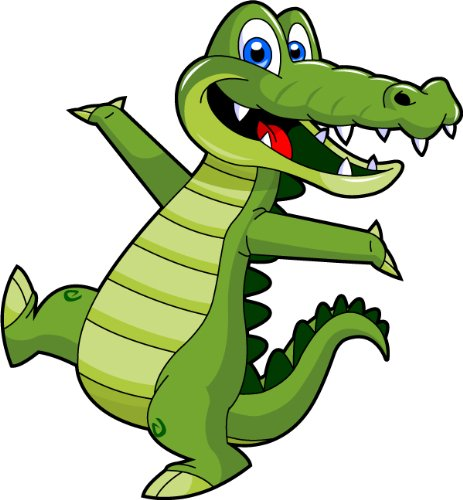 Amazon clipartall.com: Cartoon Alligator-Amazon clipartall.com: Cartoon Alligator Clip Art - Cute Alligator Mascot Stock Illustration!-1