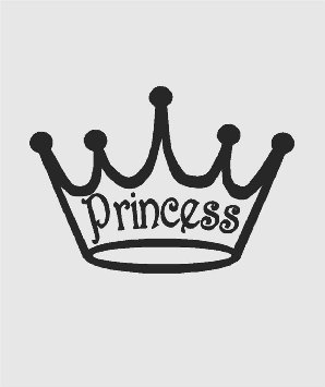 Amazon com sihouette of girls disney princess royal crown tiara cliparts