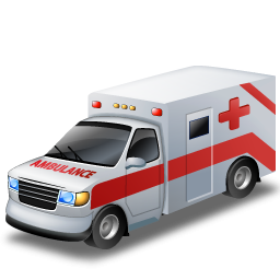 Ambulance clip art image 2