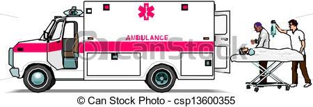 Ambulance van - Ambulance Clipart