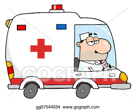 Doctor Driving Ambulance