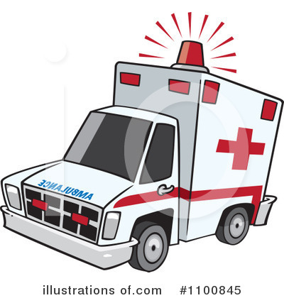 Royalty-Free (RF) Ambulance Clipart Illustration #1100845 by toonaday