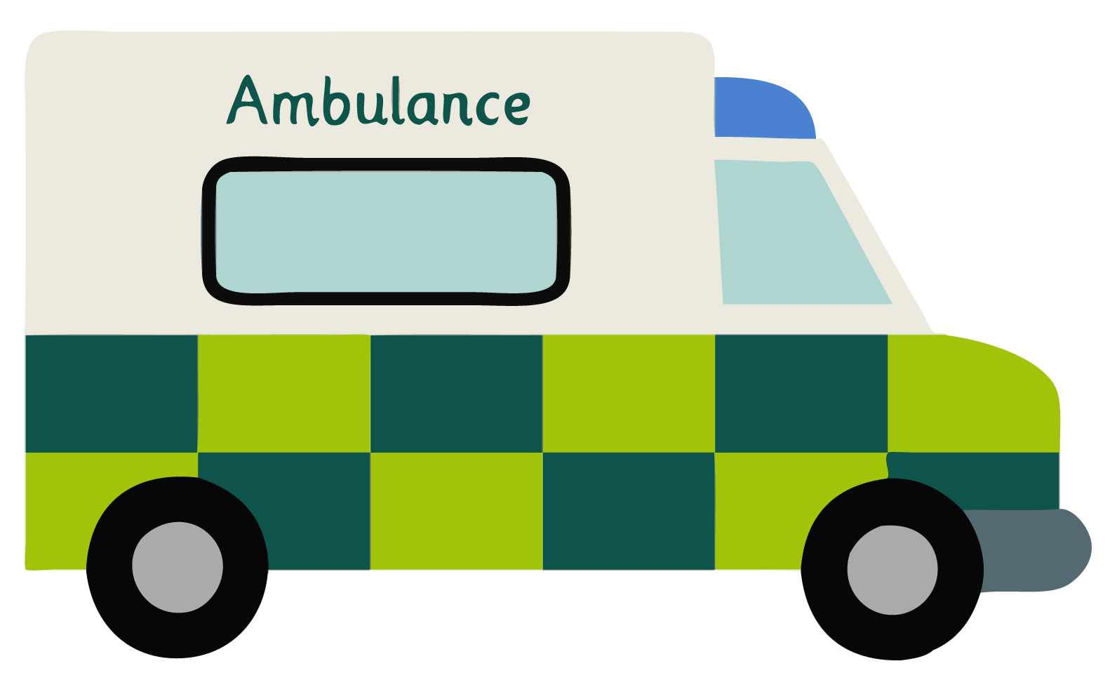 Ambulance free early years clipart image