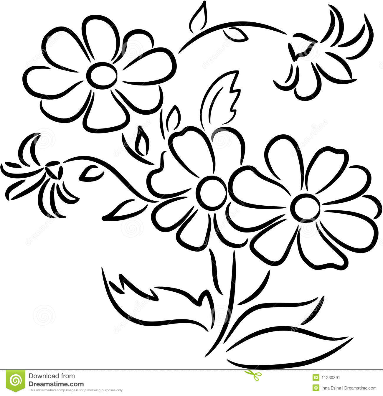 America Wedding Clip Art. Bouquet of flowers