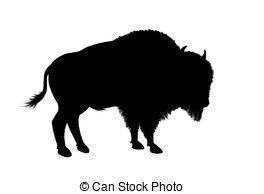 ... American Bison - Illustration, Black-... american bison - illustration, black silhouette of a north... american bison Clip Artby ...-0