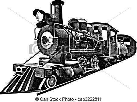 ... American Express_engraving - detaile-... American Express_engraving - detailed image of locomotive of... American Express_engraving Clipartby ...-12