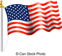 American flag background Clipartby suti57/680; American Flag Waving - American Flag on flag Pole Waving