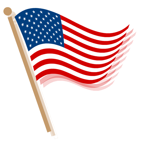 american flag banner clipart
