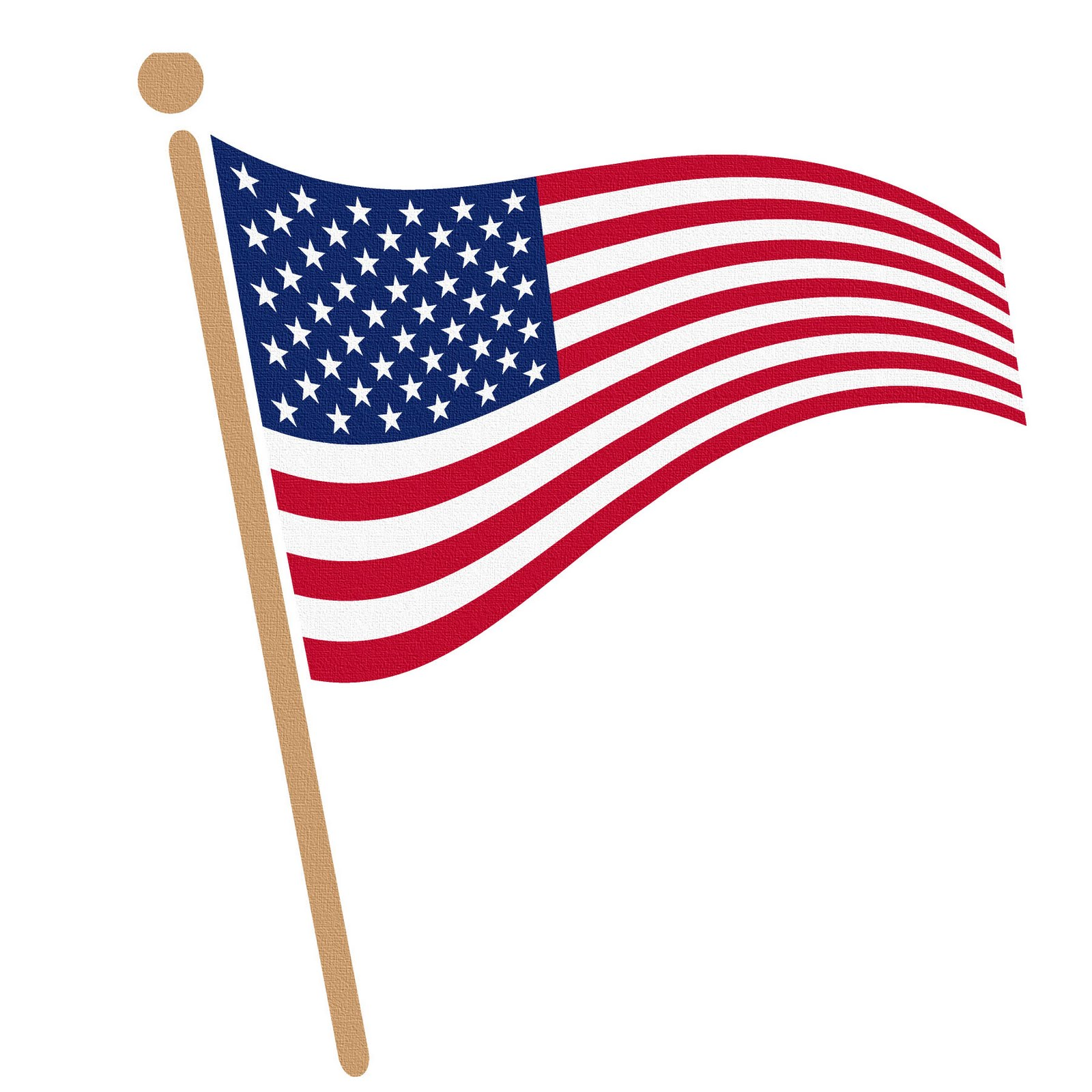 American flag clip art vector - Free Clipart American Flag