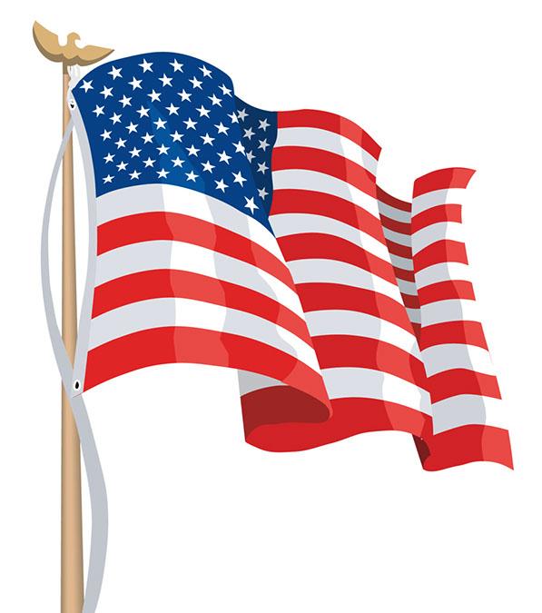 American Flag Clip Art Vectors .-American flag clip art vectors .-4