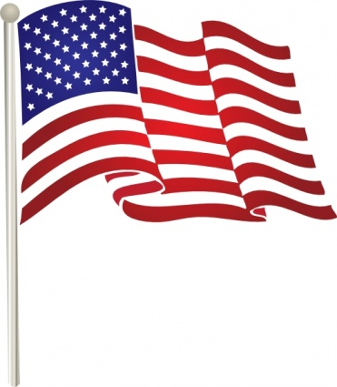 American flag clipart black and white free