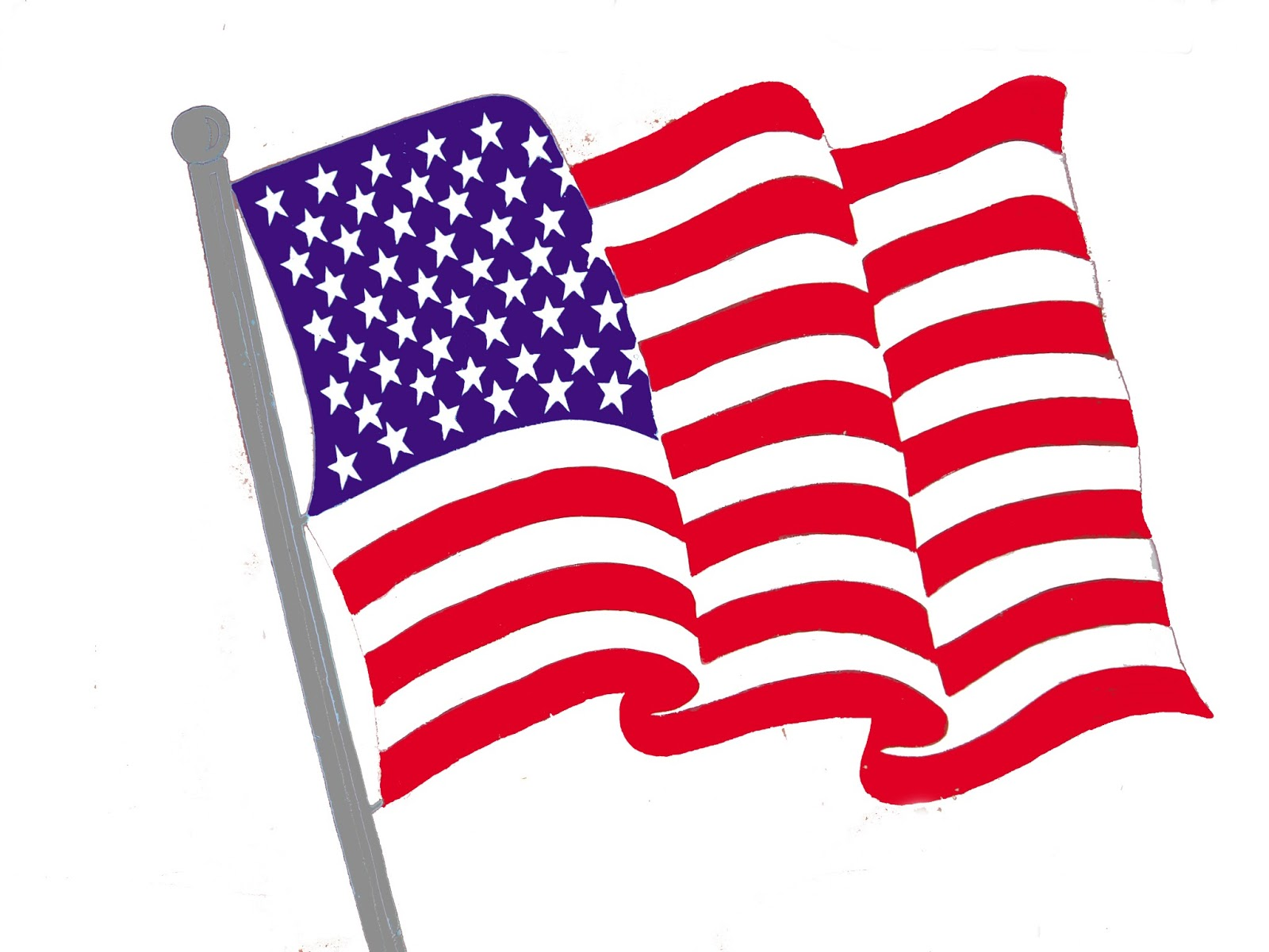 American flag clipart free .