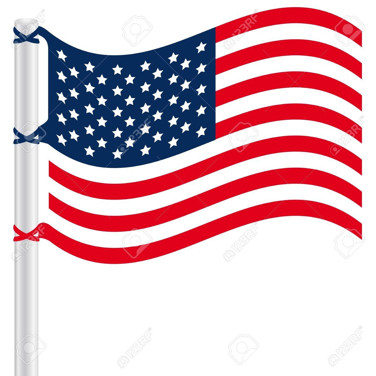 American Flag Clipart-American flag clipart-3