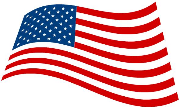American Flag Usa Patriotic Clipart 591x362 1 Png