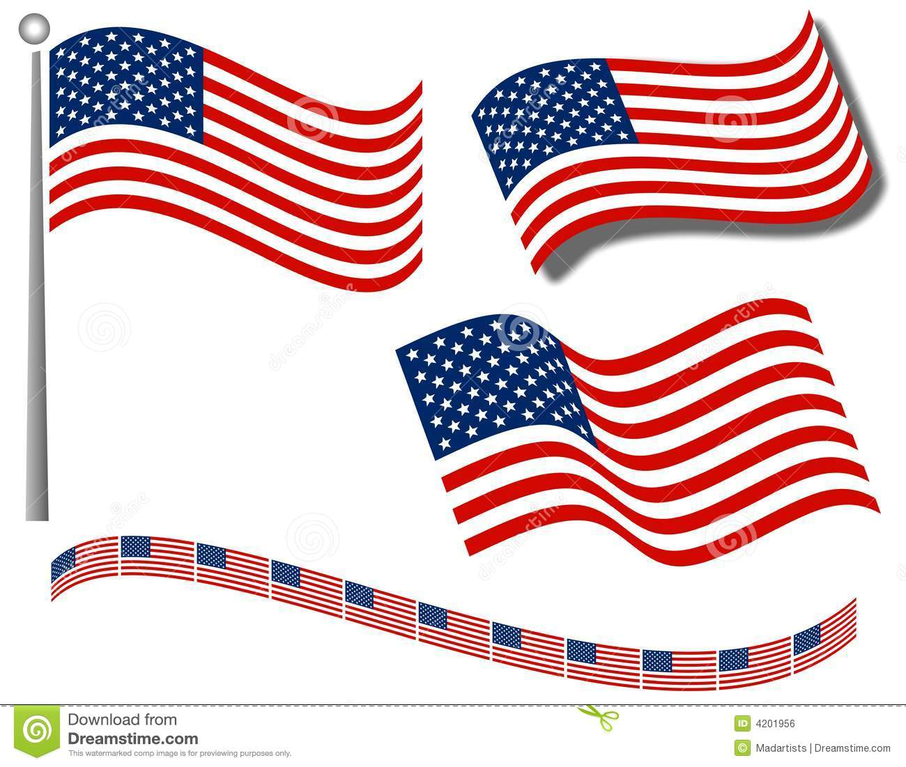 American Flags Clip Art and .