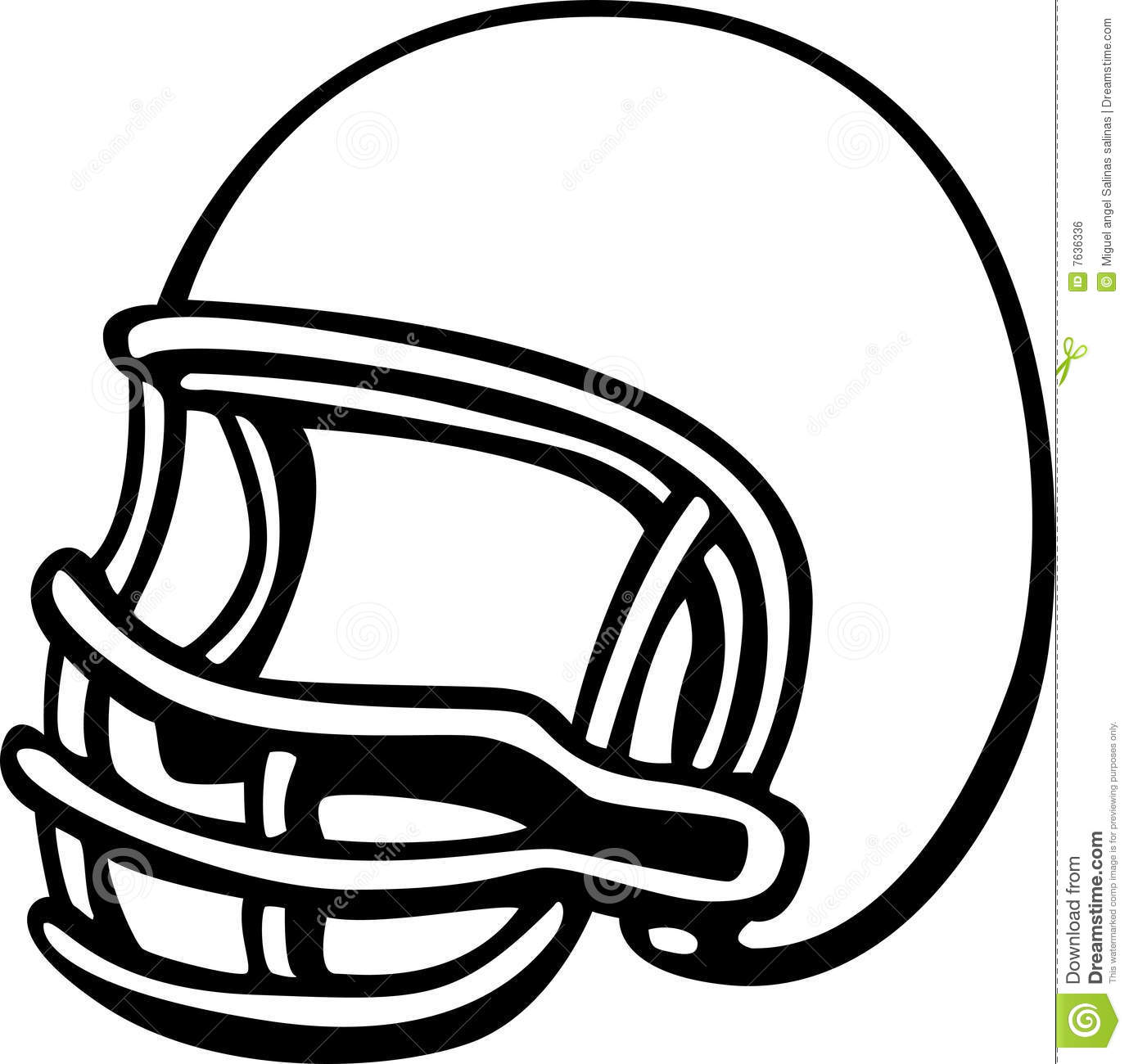 American Football Clipart Black And Whit-American Football Clipart Black And White Football Helmet Vector-6