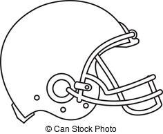... American Football Helmet Line Drawing - Line drawing.