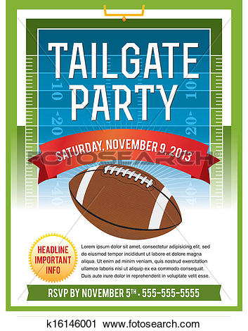 American Football Tailgate Party Flyer D-American Football Tailgate Party Flyer Design-1