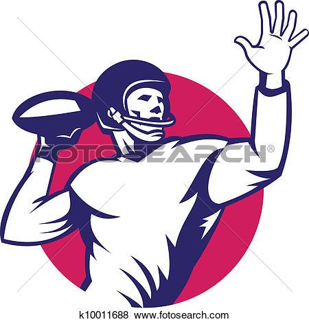 American Quarterback Football Player Pass