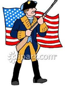 American Revolution Soldier .