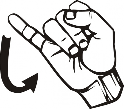 American Sign Language Clip Art - Clipart library