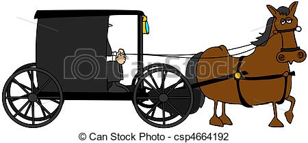 ... Amish Buggy - This illustration depicts an Amish buggy and.