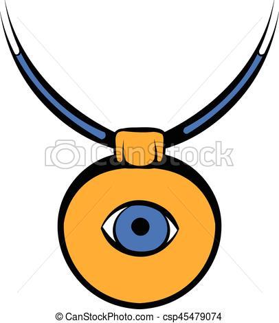 Amulet against the evil eye icon, icon cartoon - csp45479074