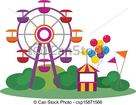 Amusement Park Clip Art Vectorby Dayzere-Amusement Park Clip Art Vectorby dayzeren4/469; Amusement Park - Illustration of an Amusement Park, isolated.-3