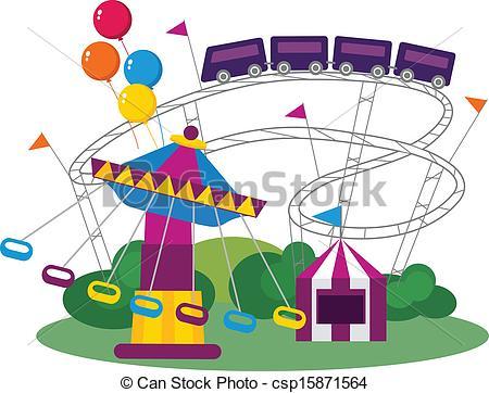 ... Amusement Park - Illustra - Amusement Park Clip Art