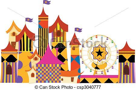 amusement parks Vectors Illustrationby ...