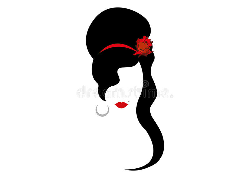 Amy Winehouse - minimalist version, portrait of jazz singer