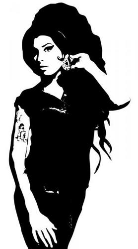 Amy Winehouse wallpaper possibly containing an outerwear, a hip boot, and a  legging titled