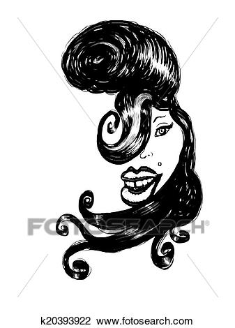 Clip Art - Amy Winehouse caricature. Fotosearch - Search Clipart,  Illustration Posters, Drawings