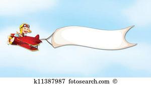 an air plane, a boy and a banner-an air plane, a boy and a banner-14