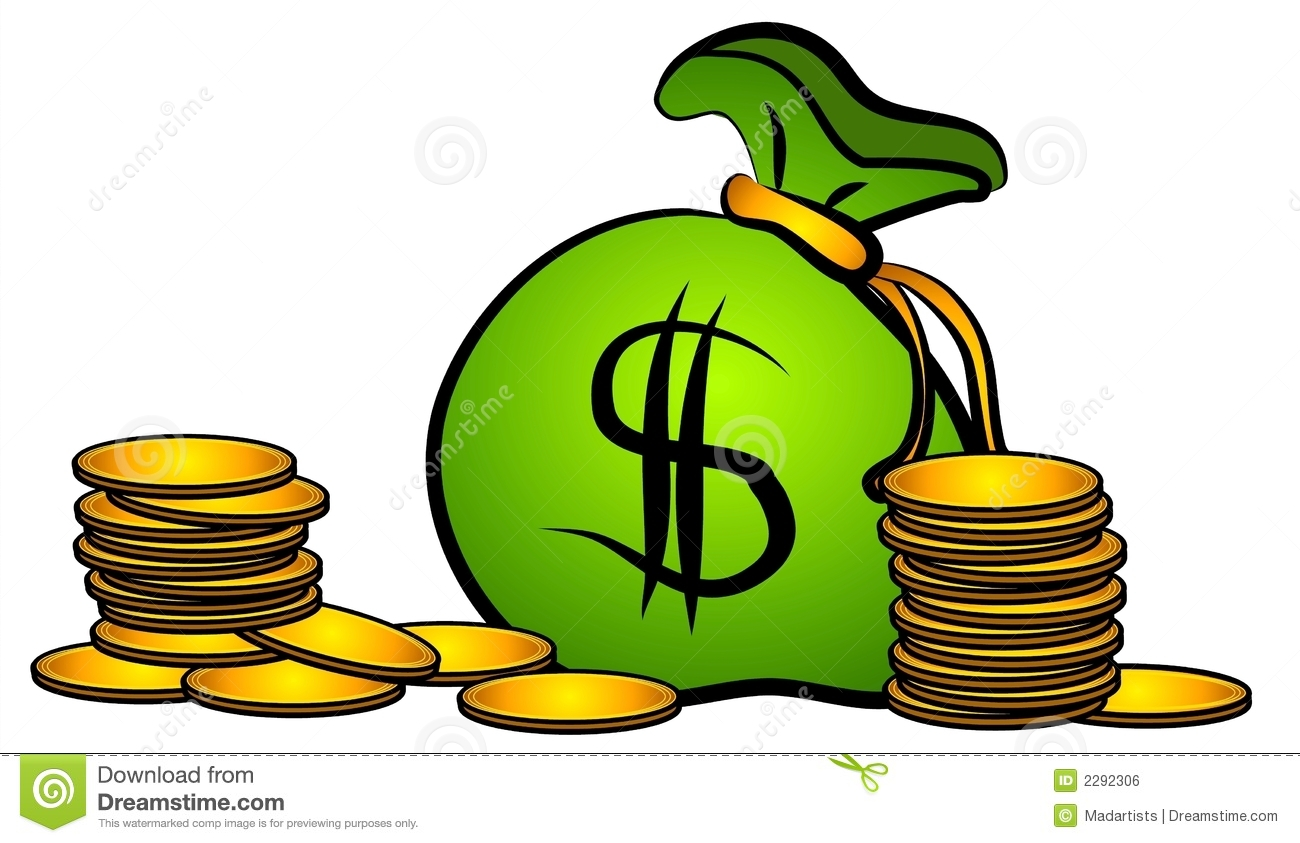 An Illustration Of A Bag Of Money In Gre-An Illustration Of A Bag Of Money In Green Black And Gold With A-0
