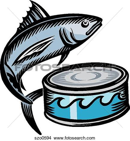 An illustration of a canned tuna
