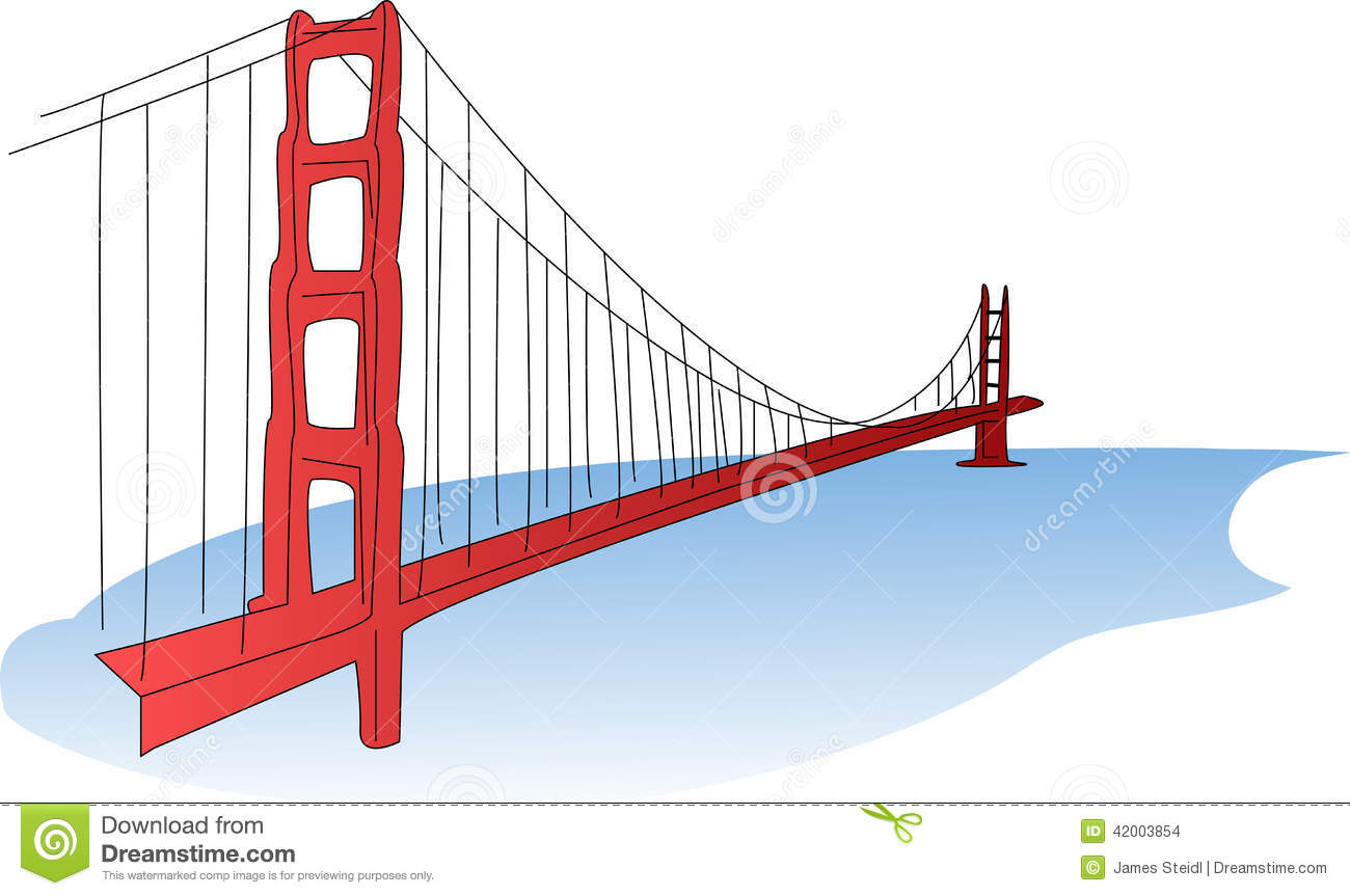 An Illustration Of The Golden Gate Bridge A Suspension Bridge