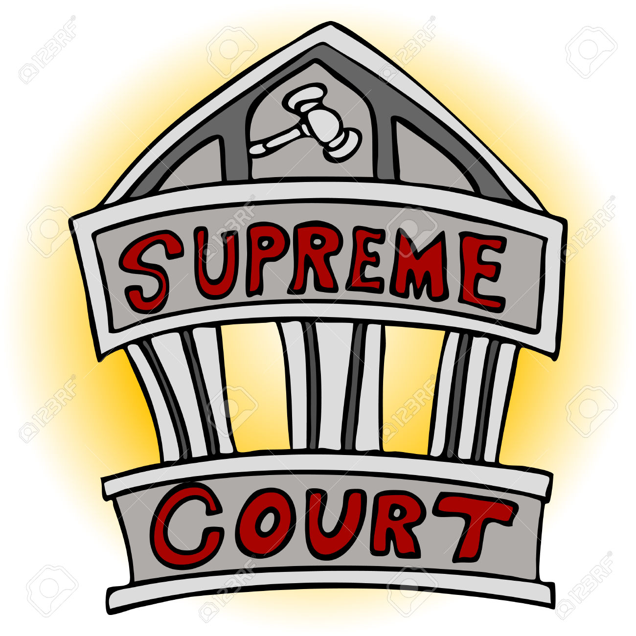 An Image Of The Supreme Court Building. -An image of the supreme court building. Stock Vector - 8186968-11