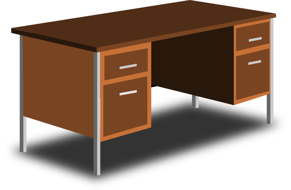 An Office Desk Clip Art At Clker Com Vec-An Office Desk Clip Art At Clker Com Vector Clip Art Online Royalty-0