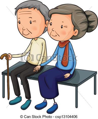 An Old Couple Dating .-An old couple dating .-3