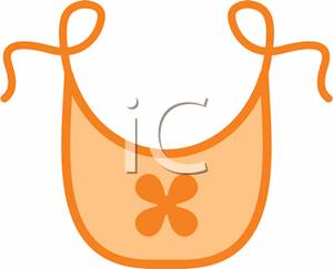 An Orange Babyu0026#39;s Bib - Clipart-An Orange Babyu0026#39;s Bib - Clipart-1